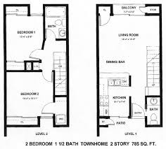 Floor Plan 2 Bedroom Apartment Style Painting