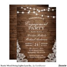 String Of Lights Rustic Wedding Invitation Pin On Rustic Wedding Invitations