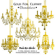 75 off gold glitter clip art chandeliers silhouettes clipart