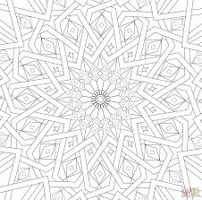 Traditional Islamic Mosaic Coloring Page Supercoloringcom Art