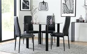 square dining room sets nova square black glass dining table with 4 black chairs contemporary square