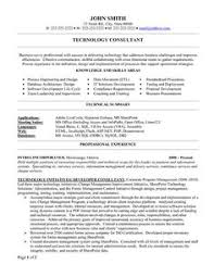 Cv Consulting 8 Best Best Consultant Resume Templates Samples Images