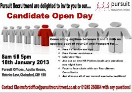 pursuit recruitment candidate open day pursuit resources group image of pursuit recruitment candidate open day