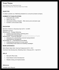 Sample Resumes For College Students With Little Work Experience