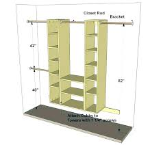 double hang closet rod height for hanging standard