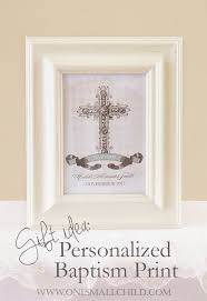 personalized baptism print christening baptism gifts at one small child