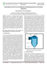 Cyclone Design Parameters Irjet A Literature Review On Investigation Of Design