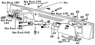 page 172 land cruiser 40 45 series dash parts glove box plates