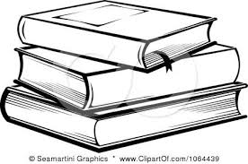 stacked books clipart clip art books black and white