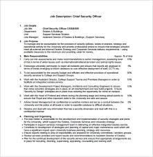 Security Officer Job Description Template 13 Free Word Pdf