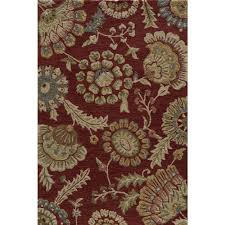 sumit on henley red 2x3 2x3 red chinese hand hook botanical rugs 100 polyester
