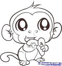 Monkey Coloring Pages Of Baby Monkeys Benneedham Info