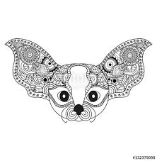 Vector Illustrator Of A Fantasy Animal Mandala For Coloring Book