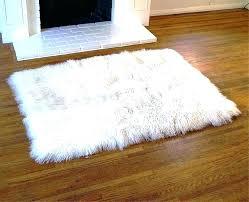 fake sheepskin rug fur gray faux medium size of area with white prepare rugs grey