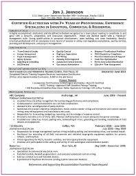 Electrician Cv Template Australia Template Resume