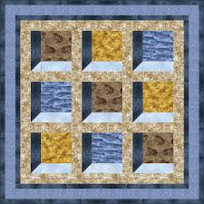 Quilt Inspiration: Free Pattern Day: Attic Windows Quilts & Earth's Windows quilt, 60 x 60