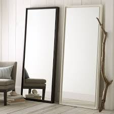 tall standing mirrors. Floating Wood Floor Mirror Tall Standing Mirrors E