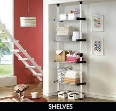 floor to ceiling shelves top floor ceiling pole shelves floor to ceiling wall mounted shelves