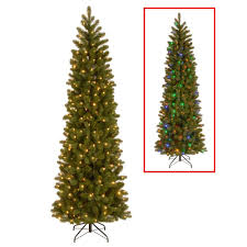 Dual Led Light Christmas Tree Details About 7 5 Ft Pencil Slim Fir Artificial Christmas Tree With Dual Color Led Lights