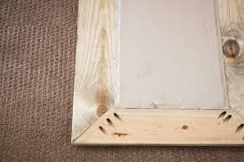diy wood mirror frame. Reclaimed Wood Mirror Tutorial_5 Diy Frame