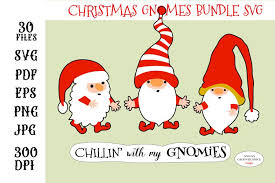 Great design for many projects this christmas holiday season! Christmas Gnomes Stickers Bundle Funny Christmas Quote 1051465 Cut Files Design Bundles