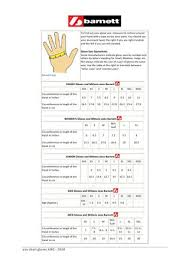 Large Gloves Size Chart Size Chart Gloves By Barnett Issuu