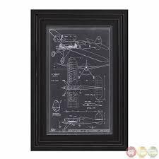 aeronautic blueprint framed wall art