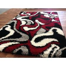 black and red rug black abstract swirls black gy area rug red white grey accents contemporary