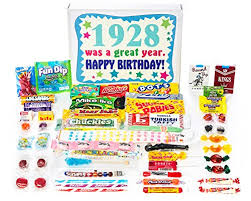 1928 90th birthday gift box vine retro candy ortment from childhood