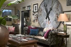 decorating ideas for living room walls clock