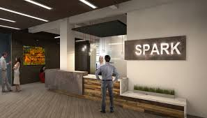 Collaborative office space Startup Spark Collaborative Office Space F13 Design Studio Spark Collaborative Office Space Architectural 3d Rendering