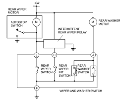 mazda protege wiper washer system wiring diagram 2002 rear wiper and washer wiring diagram