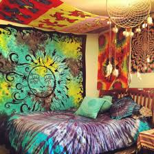 dress hippie tapestry bedroom bedding tie dye spiritual dreamcatcher jewels home decor home accessory scarf bedding t shirt blue tie