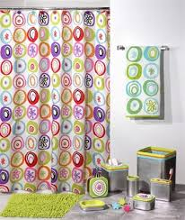 washable shower curtain contemporary modern bright colors fabric shower curtain