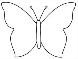 Outline Of A Butterfly Printable Under Fontanacountryinn Com