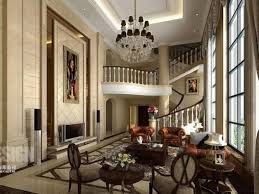 chinese style decor: interior living room decor interiors interior living room decor interiors design with traditional style contemporary decorating ideas interior decor beige wall tile floor motif features three brown sofa two chairs tables chandelier shelv