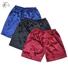 <b>Tony&Candice</b> 3PCS/Lot <b>Men's Satin Silk</b> Boxers Pajama Short ...