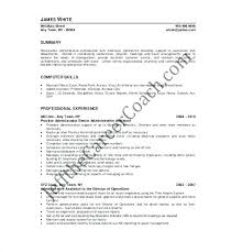 Administrative Assistant Summary Resumes Senior Executive Assistant Resume Personal Administrative