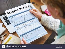 Employment Termination Form Document Concept Stock Photo: 125717103 ...