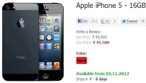 Buy Apple iPhone 5 on Airtel India for Rs ing November 2