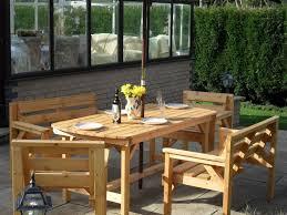 6ft wooden garden furniture patio set