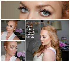 romantic bridal makeup for red hair strawberry blondes full face tutorial you