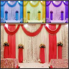 new arrival 3m*6m wedding backdrop swag party curtain celebration Wedding Background Stage Designs new arrival 3m*6m wedding backdrop swag party curtain celebration stage performance background drape with beads sequins edge soccer party supplies spiderman wedding stage background ideas