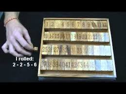 Wooden Math Games Shut Box 100 wooden math board game higer order math version 17