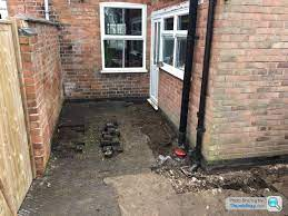surface drainage channel new patio