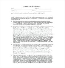 Simple Nda Template Mutual Non Disclosure Agreement Template Templates Free