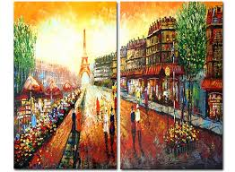 canvas paintings for sale. Cafe Paris . Canvas Paintings For Sale
