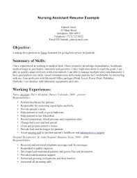 Nursing Assistant Resume Skills Simple Resume For Nursing Assistant Objective For Nursing Assistant Resume
