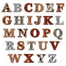 Capital Letters Of The Latin Alphabet With Animal Print Resembling