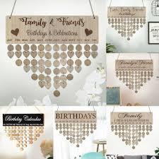 details about wooden diy calendar family birthday board hanging birthday reminder calendar